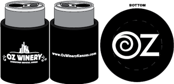 Oz Winery Koozie - Black