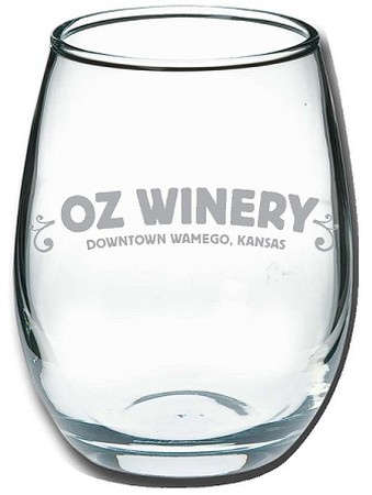 Oz Winery Stemless glass