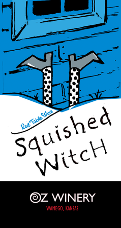 Squished Witch plaque
