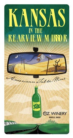 Kansas in the Rear View Mirror plaque
