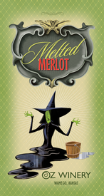 Melted Merlot plaque